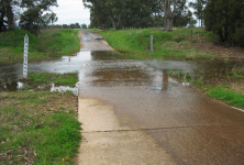 Low flow in Maules Creek