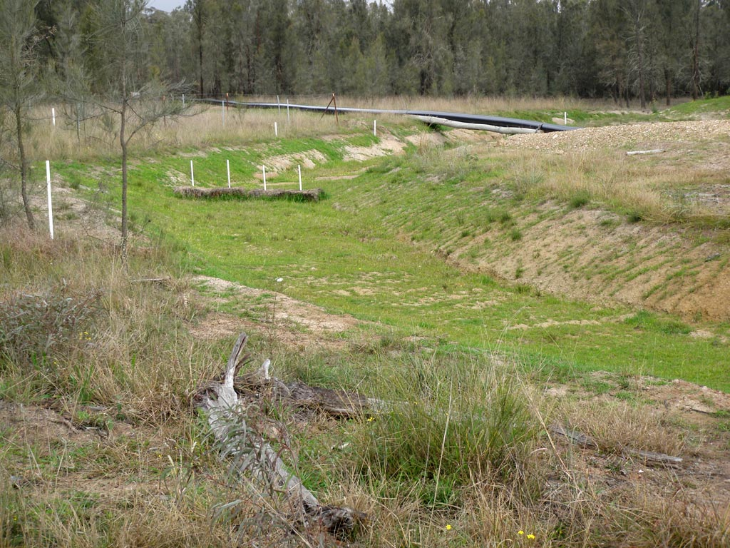 Drainage channel at a Peabody site